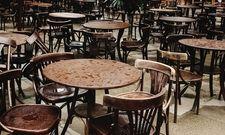 Leere Tische: Dieses Bild bietet sich sonst nur bei Regenwetter