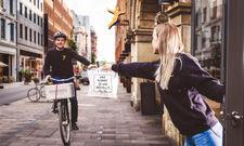 Gute Idee: Peter Pane liefert per Fahrrad
