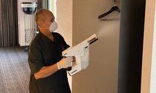 Dem Virus geht's an den Kragen: Desinfektion im Hotelzimmer