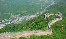 Beliebtes Touristenziel: Die Chinesische Mauer in der Nähe von Peking