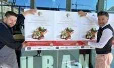 Werben für Unterstützung der regionalen Gastronomie: Küchenchef Thomas Bräunig von der Palastecke Dresden (links) und Kochsternstunden-Initiator Clemens Lutz