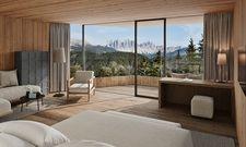 Schlafen mit Aussicht: Die Tower Suite mit Blick auf die Berge