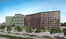 Prägnantes Gebäude: Das The Brick, in dem das neue 7 Days Premium von Plateno untergebracht ist