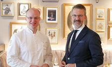Freuen sich auf das neue Konzept: Küchenchef Philipp Ferber mit General Manager Cyrus Heydarian