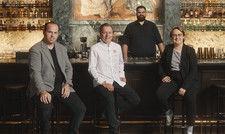 Kulinarisches Quartett des 959 Heidelberg: (von links) Geschäftsführer Tristan Brandt, Küchenchef Dustin Dankelmann, Barchef Frank Sobania und Sommelière Sabine Schlecht