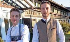 Haben aufs Hotel aufgepasst: Jakob (links) und Felix Heil vom Alpenhof Murnau