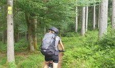 Viel Platz und frische Luft: Auf manchen Mountainbike-Wegen trifft man nicht einen Menschen