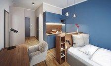 Viel Funktion auf kleiner Fläche: Typisch für Serviced Apartments, hier das neue Brera Ulm.