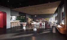 Gutes Essen ist ein Muss: Der Gastronomiebereich im Kölner Urban Loft .