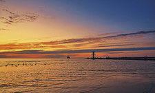 Abendstimmung an der Ostsee: Die Kennzahlen der Hoteliers an Küstenstandorten sehen besser aus als anderswo.