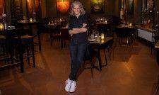 Nadine Moeller in ihrem temporären Restaurant