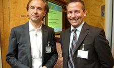 AHGZ-Chefredakteur Hendrik Markgraf und Gastgeber Olaf Feuerstein