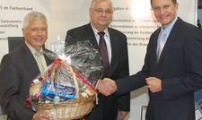Verabschiedung: (von links) Thomas Grothkopp, Jürgen Wirtz und Jürgen Lacher