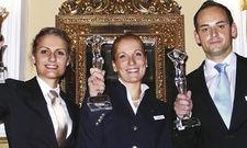 Die Sieger von 2012: (von links) Barbara Englbrecht (2. Platz), Lisa Eckardt (1. Platz) und Tommy Hergenhan (3. Platz)