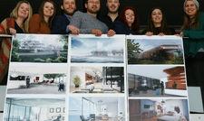 So könnte das Hotel aussehen: Die Lübecker Studenten präsentieren ihre Entwürfe