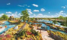 Wasserattraktionen sind Teil des Konzepts: So wird es künftig an der Südseite der Tropical-Islands-Halle aussehen